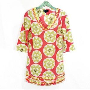 Boden Tunic Top Size 10 3/4 Sleeve